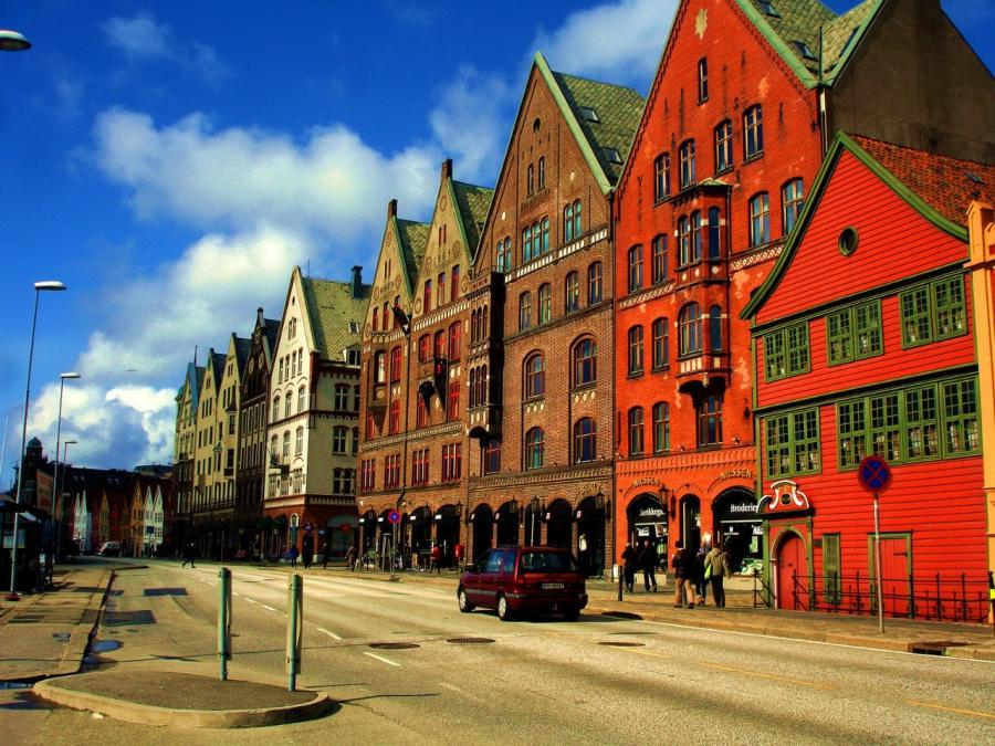 Берген - Норвегия Города