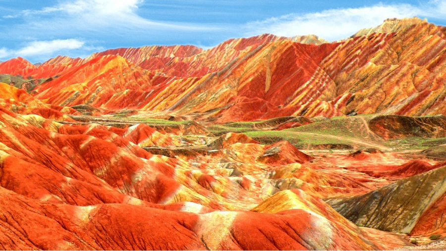 Цветные скалы Чжанъе Данксиа - Китай Курорты