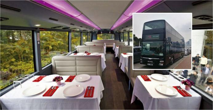 На улицах Гонконга появился туристический автобус-ресторан