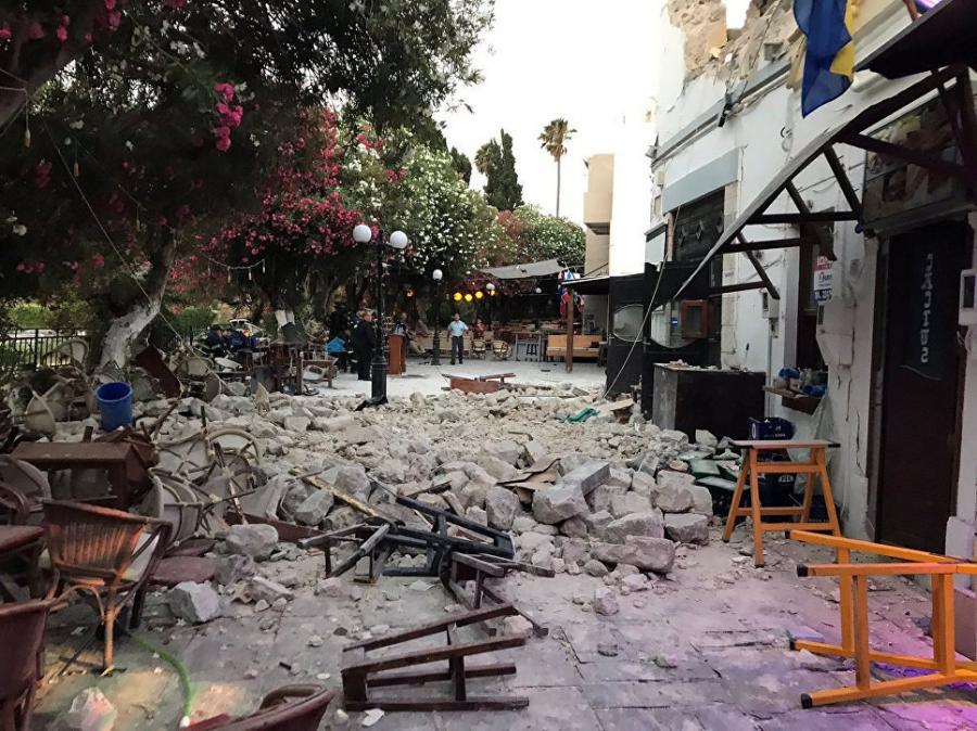 Остров Кос восстанавливается после землетрясения
