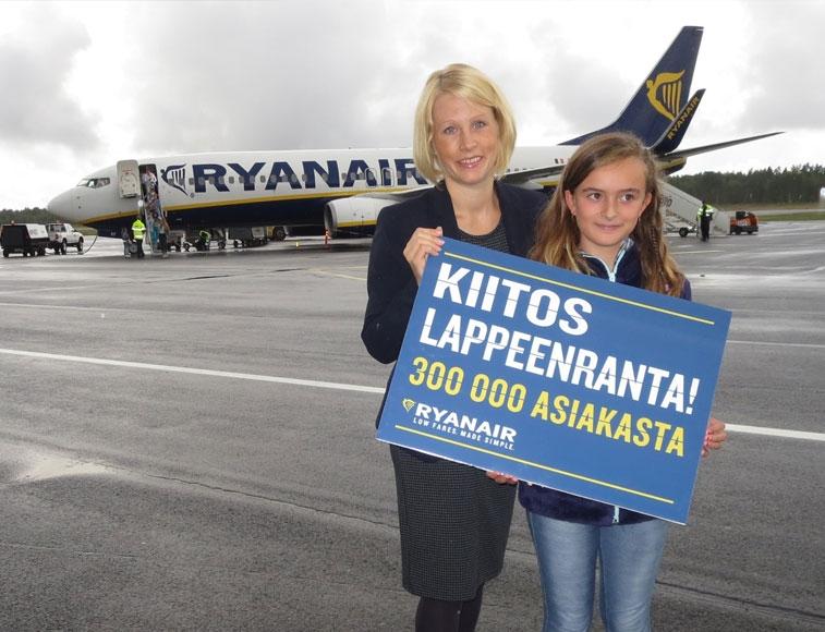Ryanair будет летать из Лаппеенранты в Бергамо