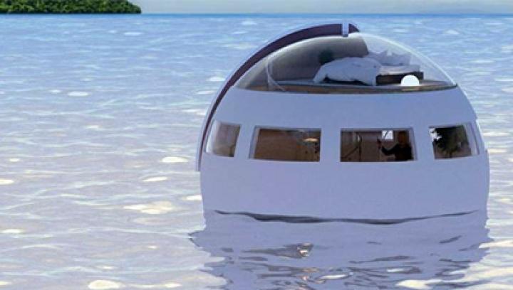 Первый в Японии плавающий отель-капсула спасет от цунами